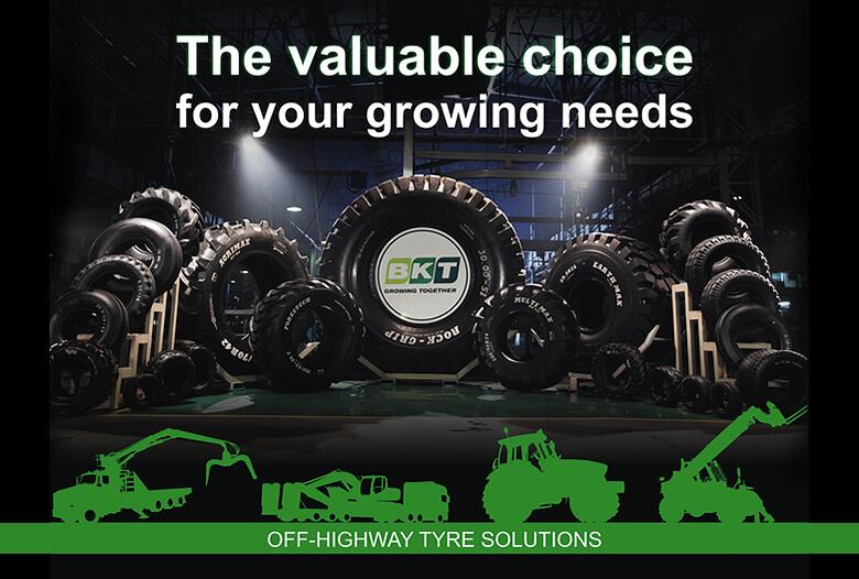 BKT フォークリフト・建設機械用タイヤ 販売開始!